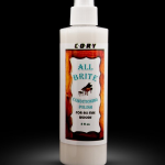 All-Brite- 8 oz- $17.95- Non-greasy moisturizing treatment for polishing and protecting surfaces from drying and cracking. For all sating lacquer, shellac and open pore woods. Simply spray on and wipe into finish.