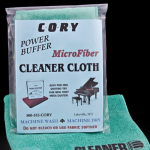Cleaner Cloth- $5.95- a soft thick weave, non-treated fleece cloth for application of all Cory cleaners. Machine washable.