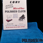 Polisher Cloth- $5.95- special, soft, thick-weave, non-treated fleece cloth for application and final shining of all Cory polishes. Machine-washable.